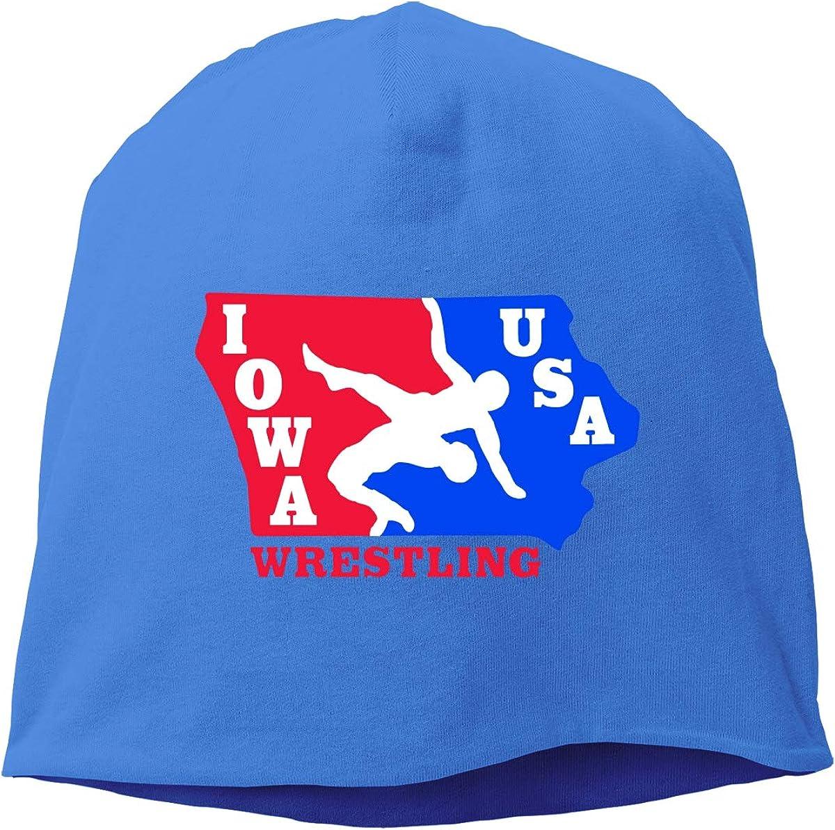Wrestling USA Flag Skull Cap Helmet Liner Beanie Cap for Men Hip Hop Hedging Head Hat