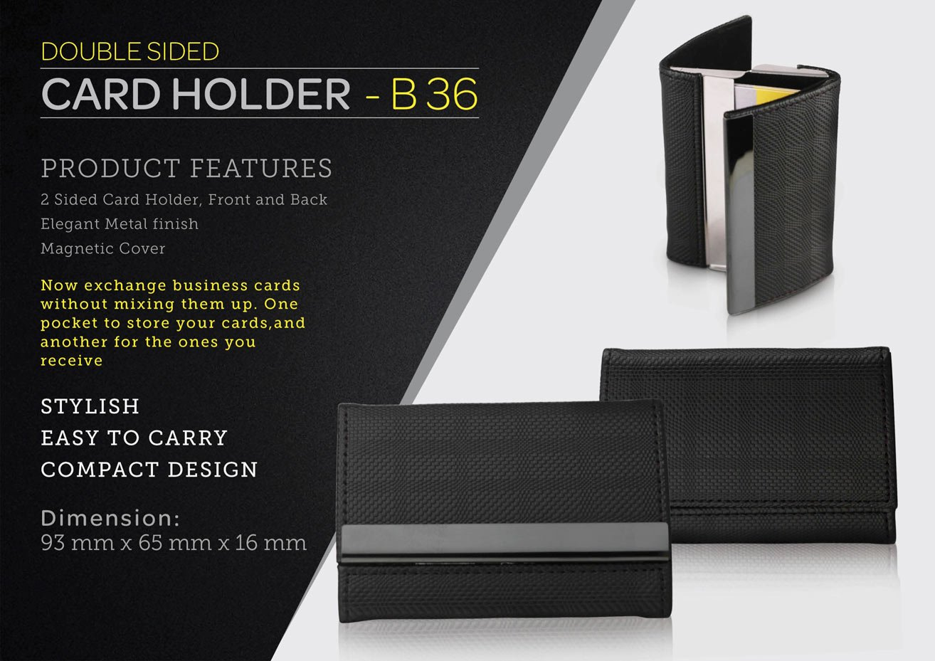 Double Side Card Holder: Amazon.in: Office Products