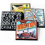 Vintage Boston Coaster Set