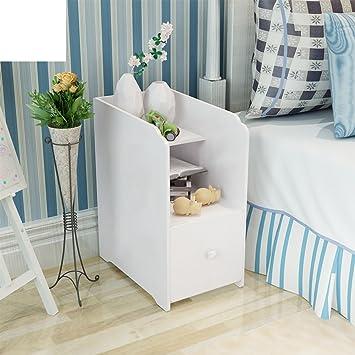 FJIWDTGYHFGT Creative Geschnitzten Mini Nachttisch,Moderne Minimalistische  Schmale Nachtschrank Kleine Kinder Schlafzimmer Schließfächer