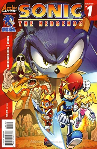 Amazon Com Sonic The Hedgehog 266 Vf Nm Archie Comic Book Entertainment Collectibles