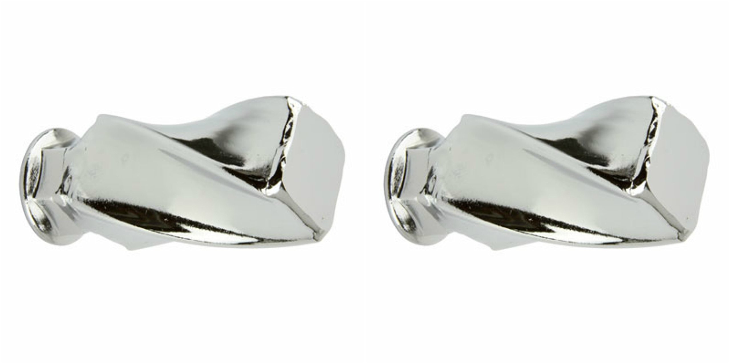 Lowrider 2 - Twisted Square Nuts 3/8 x 26t Chrome. Bicycle nut, bike nut, beach cruiser, chopper, mountain, limo
