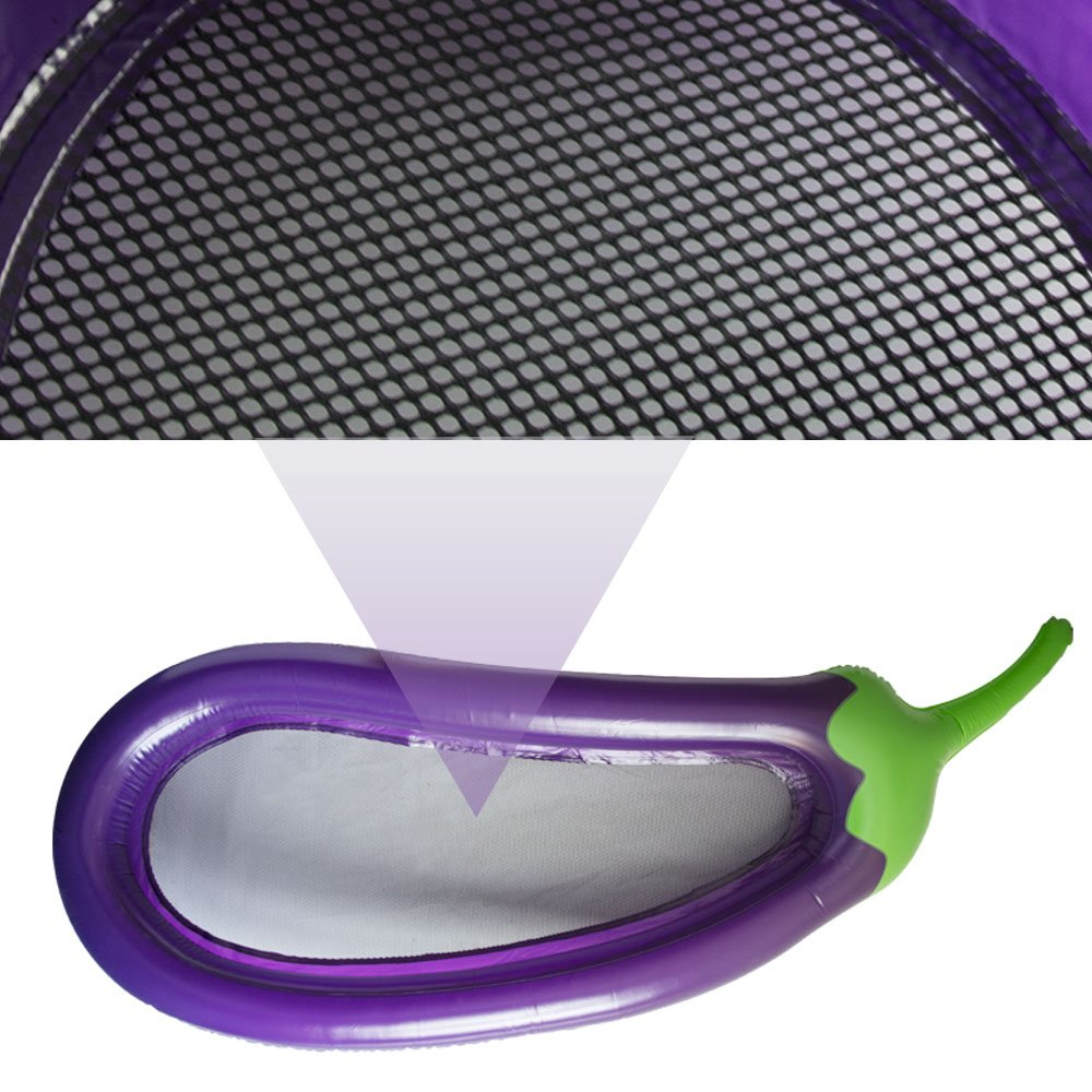 270x110x170cm forma de berenjena DAXGD Piscina inflable flotador balsa de piscina con bomba de aire de mano
