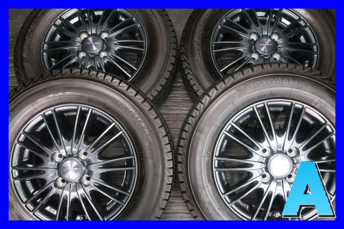 【中古スタッドレスタイヤ】【送料無料】4本セット ヨコハマ アイスガード iG30 145/80R13  / WEDS ヴェルヴァ AGUDO 13x4.0 44 100-4穴  ミラに! 中古タイヤ W13180327037 B07CC97CNH