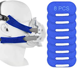 8PCS CPAP Strap Covers - Headgear Strap Covers for Dreamwear, AirTouch, AirFit, Amara and ComfortGel Headgear, Super Comfort CPAP Pads - Reduces Irritation, Redness & Pressure Marks Mask