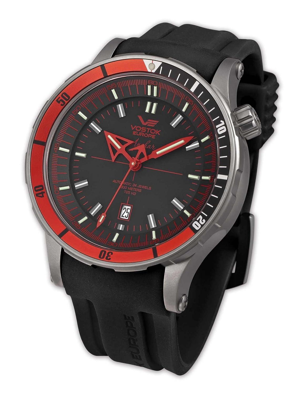 Vostok Herren-Armbanduhr XL Analog Automatik Silikon 09VS005