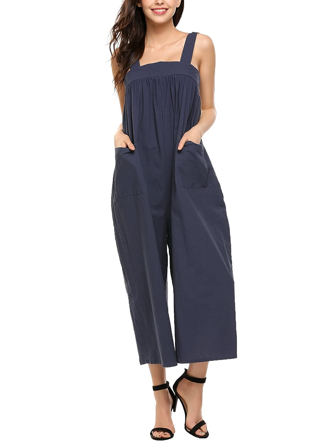 0629718aa1991 Womens Casual Wide Leg Jumpsuit