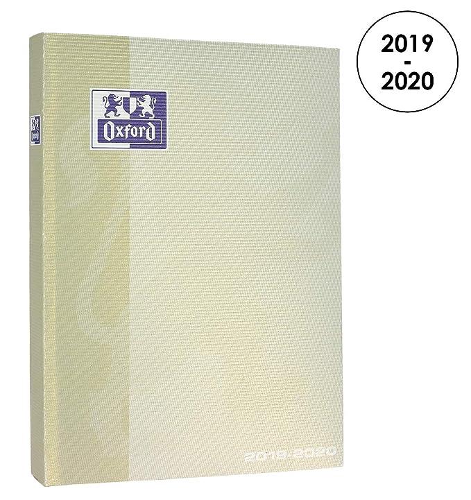 Oxford School Limited - Agenda escolar diaria 2019-2020, 1 día página, 352 páginas, 12 x 18 cm, color beige pastel