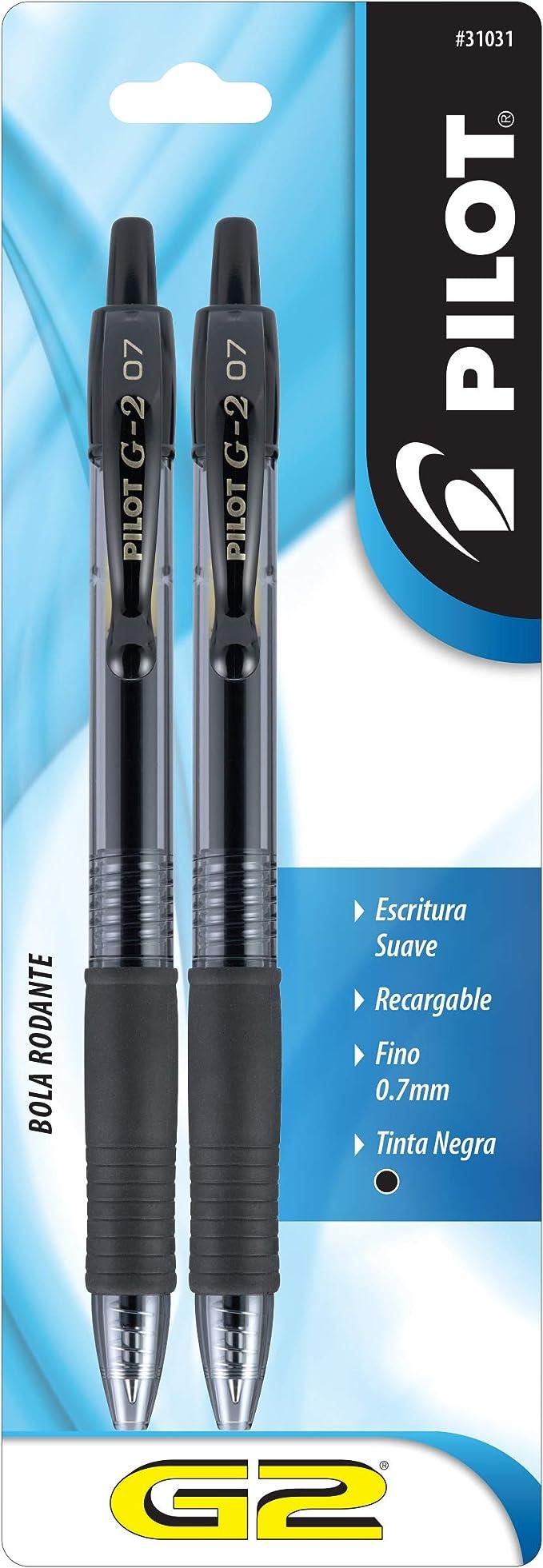 Details about  /Pilot G2 Pen Stylus pil34309 2//PK pil-34309 Fine Pt Black