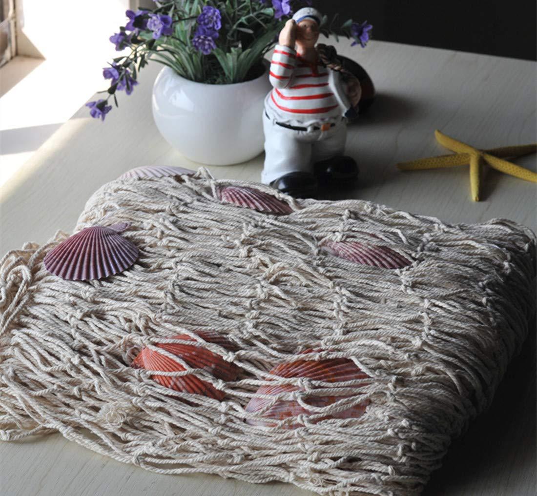 Doyime Stile mediterraneo decorativo rete da pesca fotografia puntelli bar partito rete da pesca decorazione sfondo muro