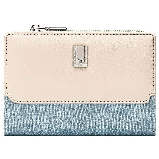 45e3ffaa0137 Amazon.com: GEEAD Small Wallets for Women Trifold Slim Coin Purse ...