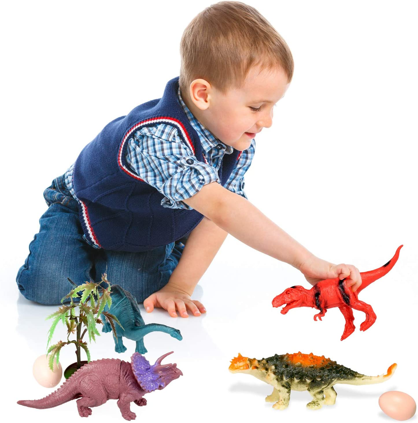 Yosemy Dinosaurios de Juguete Figura de Dinosaurio Pl/ástico para Ni/ños DE 3-6 A/ños,Dinosaurio Jur/ásico Mundo Dinosaurio de Construcci/ón de Juguete 15 Piezas de Juguete de Mini Dinosaurio