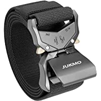 JUKMO Tactical Belt, Military Style Rigger 1.5 Inches Nylon Webbing Belt with Heavy-Duty Quick-Release Buckle