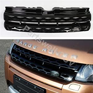 YiXi-Partswell Front Grille Mesh Vent Cover Grill Bar Fit for Range Rover Evoque 2011-2015 - Piano Black