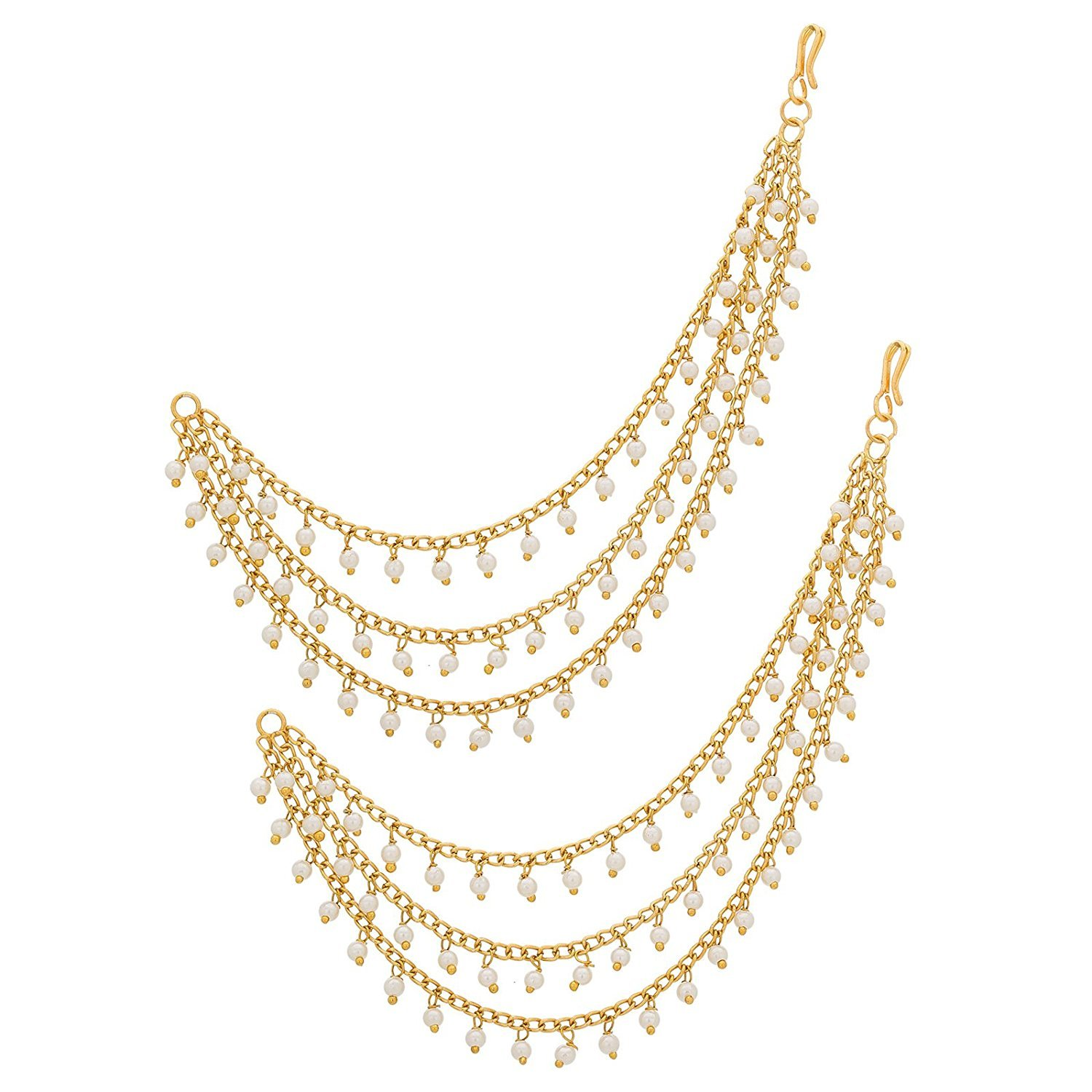 Karatcart Fashion Jewellery GoldPlated Multi-Layered Long
