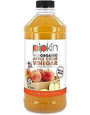 Pipkin Vinagre de Sidra de Manzana 100% Orgánico, Con Madre, Puro, Sin Refinar y Sin Filtrar, Vegano y Vegetariano, Kosher 473ml o 964ml (473ml)
