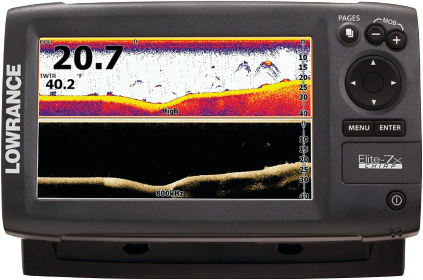 Lowrance Elite 7X Chirp - con Transductor 83/200 KHz + 455/800 KHz ...