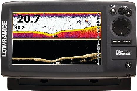 Lowrance Elite 7X Chirp - con Transductor 83/200 KHz + 455/800 KHz: Amazon.es: Deportes y aire libre