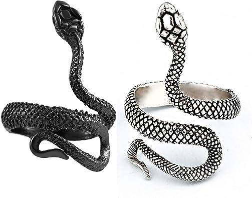 Gothic Adjustable Cobra Snake Ring Retro Punk