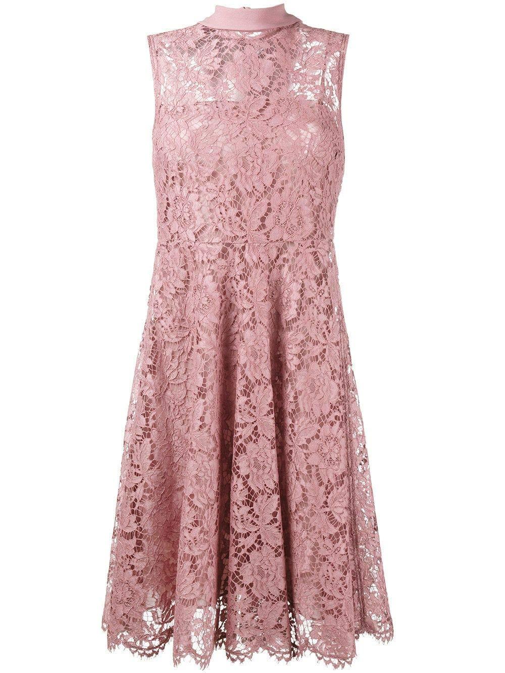 Valentino Women's NB3VAEC01EC34C Pink Silk Dress