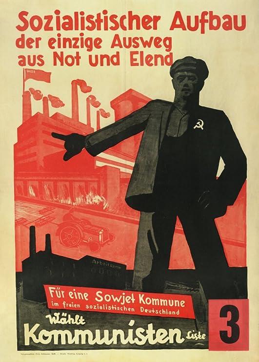 Vintage alemán entreguerras Propaganda Comunista socialista ...