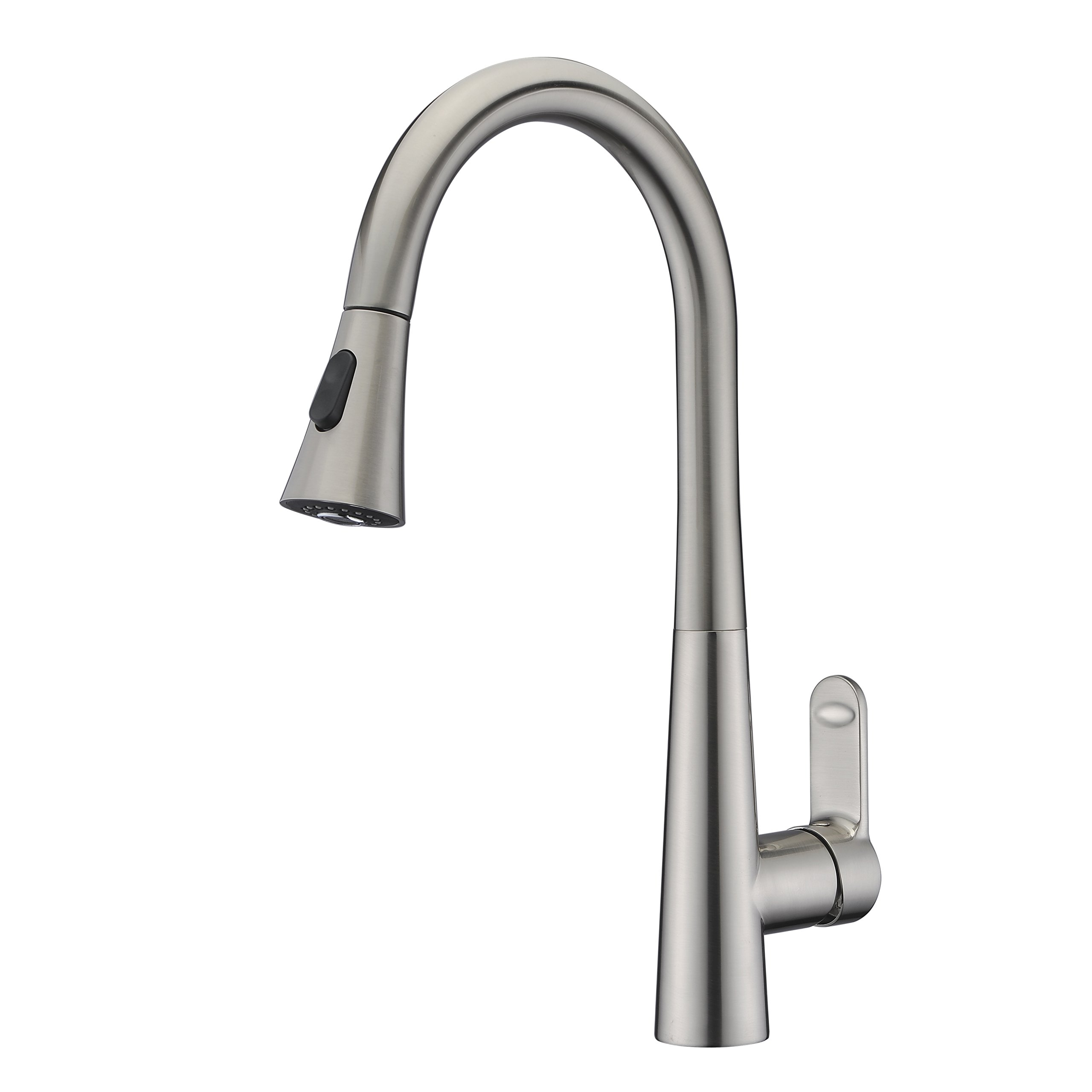 Kitchen Faucet Brushed Nickel with Pull Out Sprayer WENKEN Lead Free Swivel Pull Down Pre-rinse Kitchen Sink Faucets