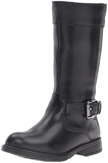 d2427e7d2 Geox Girls  Jr Sofia B ABX 10-K Riding Boot Black 34 EU(