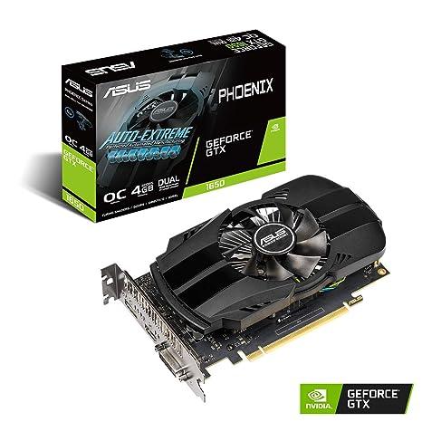 ASUS PH-GTX1650-O4G - Tarjeta gráfica (4 GB GDDR5, OC 1710 MHz, 128 bit, PCIE 3.0, 896 núcleos CUDA) Negro
