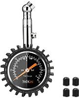 Tacklife TPS02S Manómetro de Precisión Digital, Medidor para Neumáticos con Gran Pantalla de 2 Pulgadas y Medición 0-60 PSI  y 360° Rotación para coche bicicleta motocicleta
