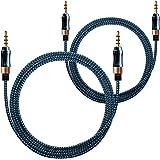 AFUNTAステレオ オーディオ ケーブル 音声ケーブル 3.5mm 高音質 オス-オス AUX車載用 PC 、 スマホ や モバイルデバイス 対応 USBケーブル 充電ケーブル