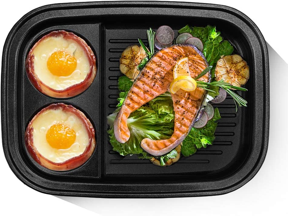 BSTY Grill & Dessert Pan for All-in-One Campact Multifunction Cooker | Electric Pan | Electric Griddle