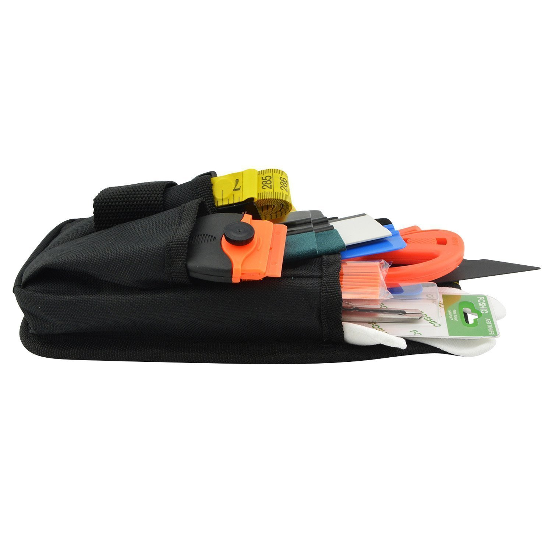 FOSHIO Kit Auto veicolo del vinile che sposta strumento di applicazione per di automobile Pellicole includono Tool Bag Zippy Cutter Magnete Nastro raschietto rasoio scope di guanti lama darte