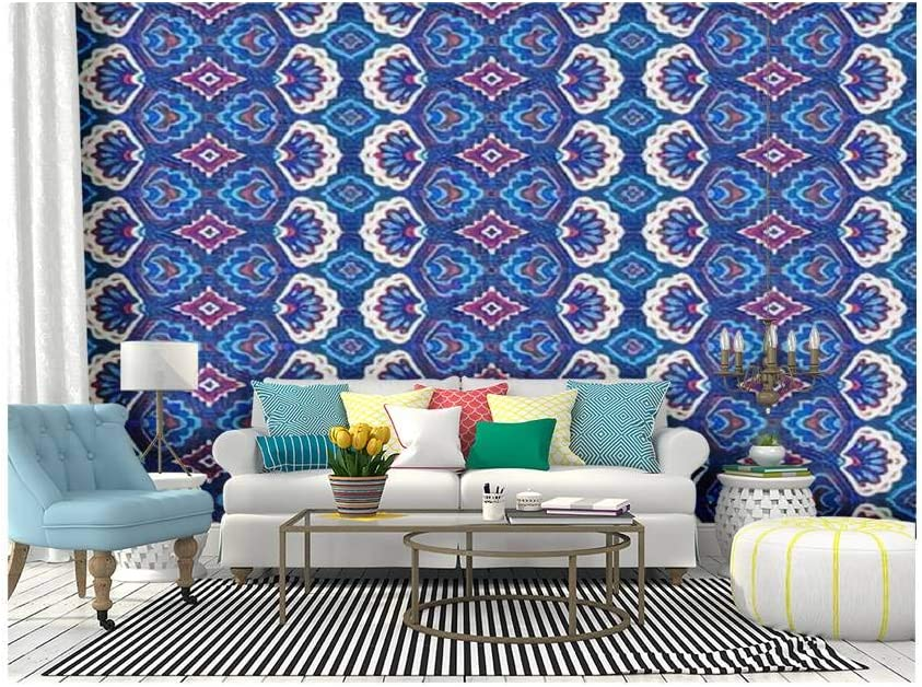 Amazon Com Self Adhesive Wallpaper Roll Paper Geometric Folklore Ornament Tribal Ethnic Texture Seamless Striped Removable Peel And Stick Wallpaper Decorative Wall Mural Posters Home Covering Interior Film Home Kitchen