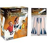 The Original Stomp Rocket Jr. Glow with Jr. Glow Refill Pack, 7 Rockets