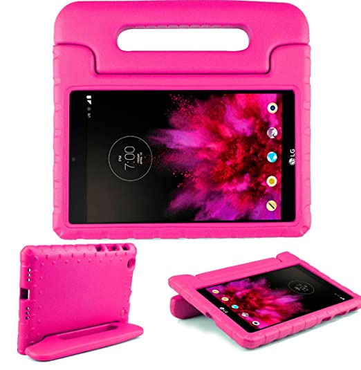 quality design e1d57 1e066 SIMPLEWAY LG G Pad X 8.0 Kids Case, Only Fit AT&T V520 / T-Mobile V521  Tablet, Carry Handle Child Stand Holder Shockproof Protective Cover Case ...
