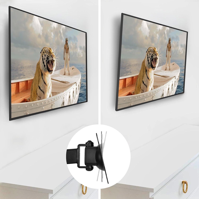 VESA 75 Duronic TVB1120 Soporte TV de Pared Ultra Delgado Inclinable y Giratorio para Pantallas Monitor de 13 a 30 Pulgadas hasta 18 kg de Peso Montaje SOLO Compatible con VESA 100
