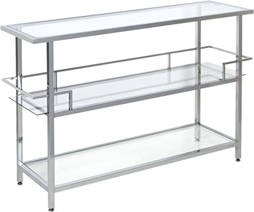 Studio Designs Home Portico Bar In Chrome with Clear Glass, 52 ,