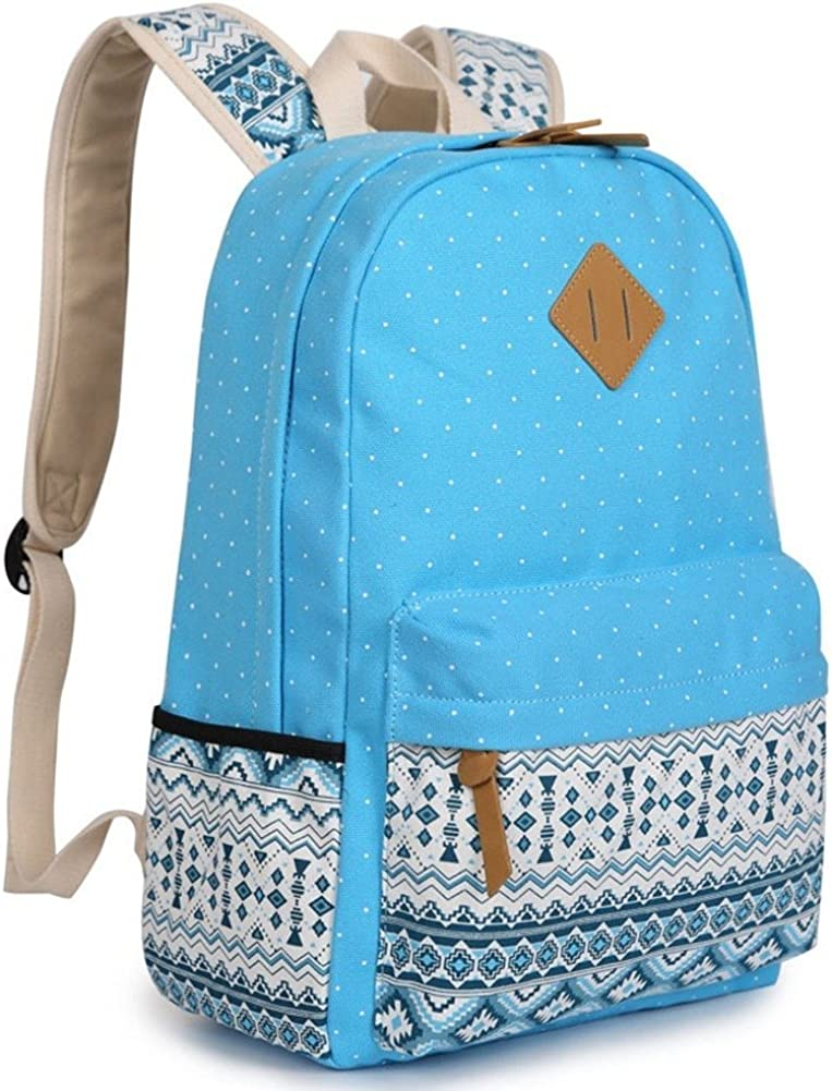 Topey Lightweight Back Pack Canvas Bookbags School Backpacks for Girls