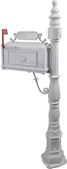 Postal Mail Box Hole for Letters Aluminum Regia postmen White