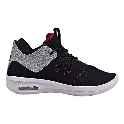 8daf020a140917 Jordan Kids AIR First Class BG Black Gym RED White Matte SILV Size 4