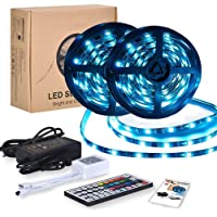 Tiras LED RGB 10m 12V | Kit Tiras de Luces Led Lights - 300 leds 5050 Impermeable IP65 | Led Strip Con Mando y Trasformador | Decorativas como Luces Led Multicolor Habitación TV y Exterior