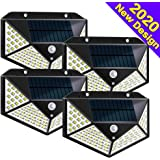 Solar Lights Outdoor,Solar Wall Light, 100 LEDs,Wireless Motion Sensor Wall Lights with 270° Wide Angle,IP65 Waterproof,3 Optional Modes,for Garden,Patio Yard, Front Door, Garage,Porch (4 Pack)