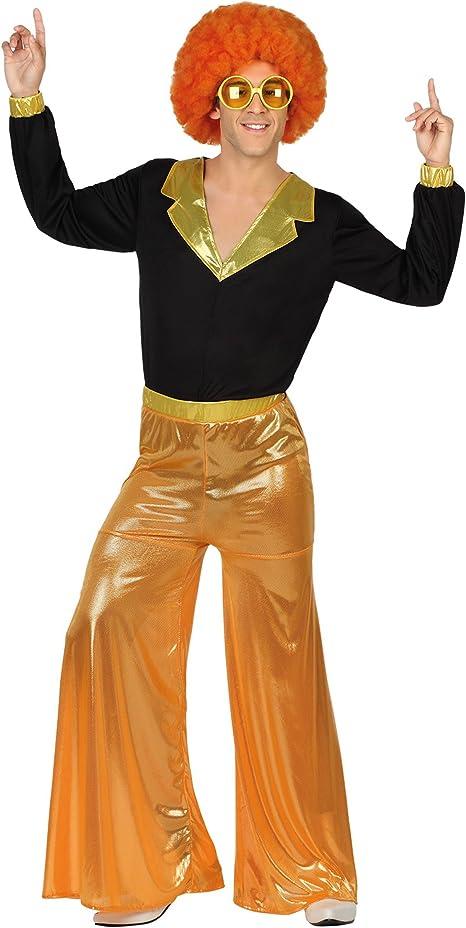 Atosa-27247 Disfraz hombre disco, Color naranja, M-L (27247 ...