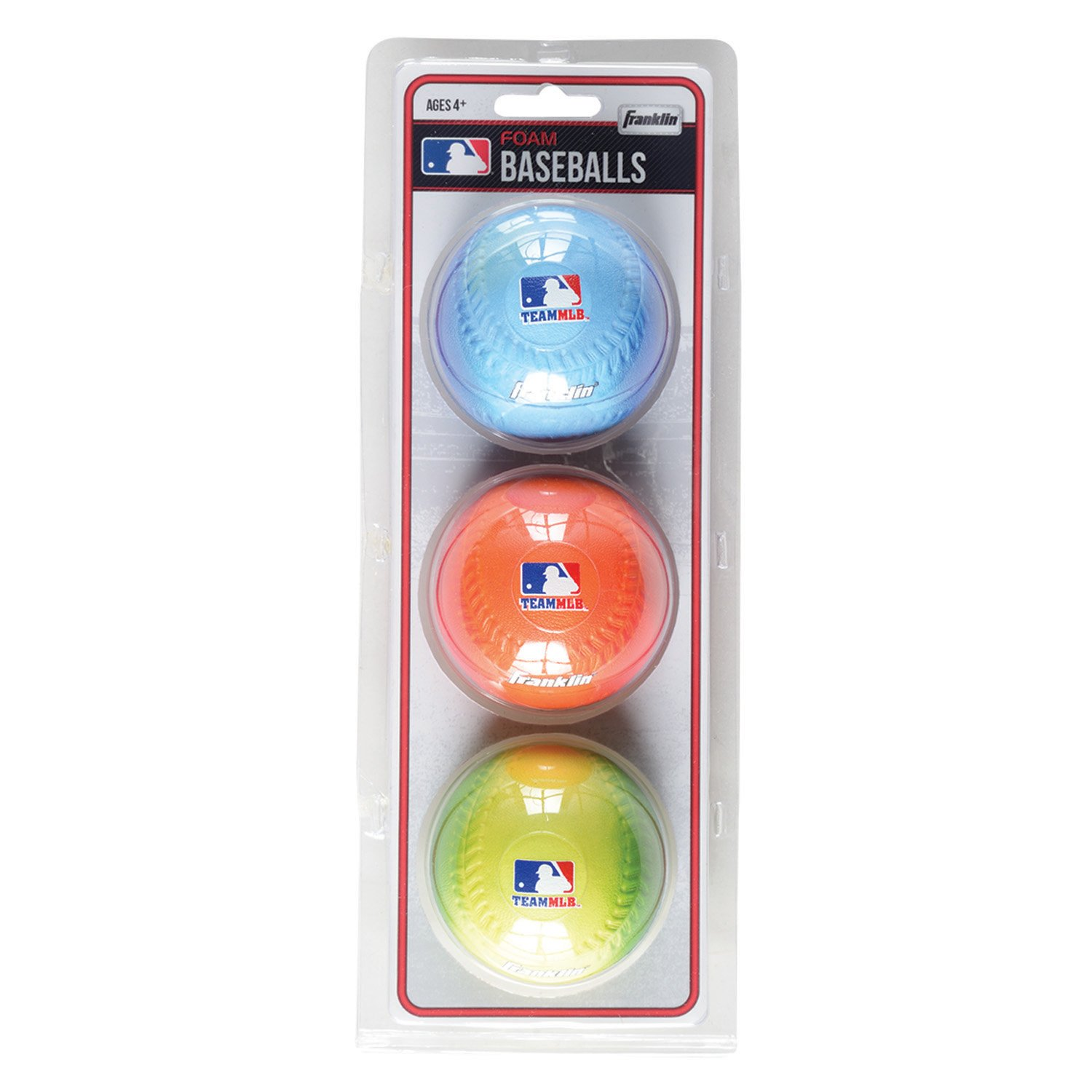 Franklin Sports Team MLB 3Pack Foam Baseballs-Gradient 14929
