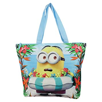 Amazon.com: Minions Paradise Handbag Top-Handle Beach Bag For ...