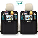 Aomaso Kick Mats with Multi-pocket Organizer, Seat Back Covers for Car, SUV, Minivan or Truck Seats, Auto Accessory and Protector for Kids