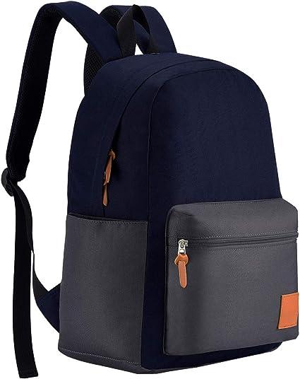 Schwarz Schulrucksack Rucksack Mädchen Teenager Jungen Laptop Rucksack mit