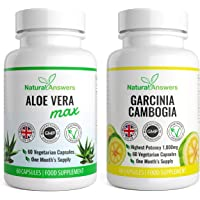 Garcinia Cambogia & Aloe Vera Max Cleanse | Weight Managemnet Detox | 120 Capsules 1 Month Supply | Vegetarian Friendly | High Quality Supplement | UK Manufactured Trusted Brand Natural Answers