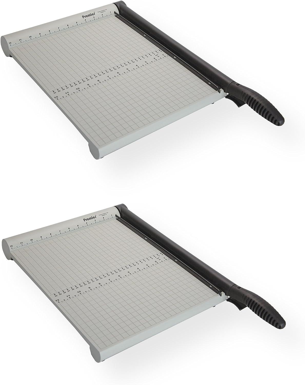 Martin Yale martinyalep212 X .x2 modelo P212 X Premier polyboard cortadora de papel (Pack de 2), hasta 10 hojas de papel Bond 20lb. en una vez, permanente 1/2