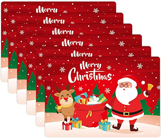 Placemats Christmas Three Color Mat Christmas Table Textures 33 cm